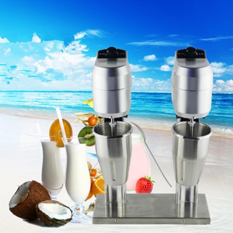 Sıcak satış Paslanmaz Çelik süt blender ticari çift kafa milk shake makinesi, commerial süt mikser tiryakisi mikser makinesi