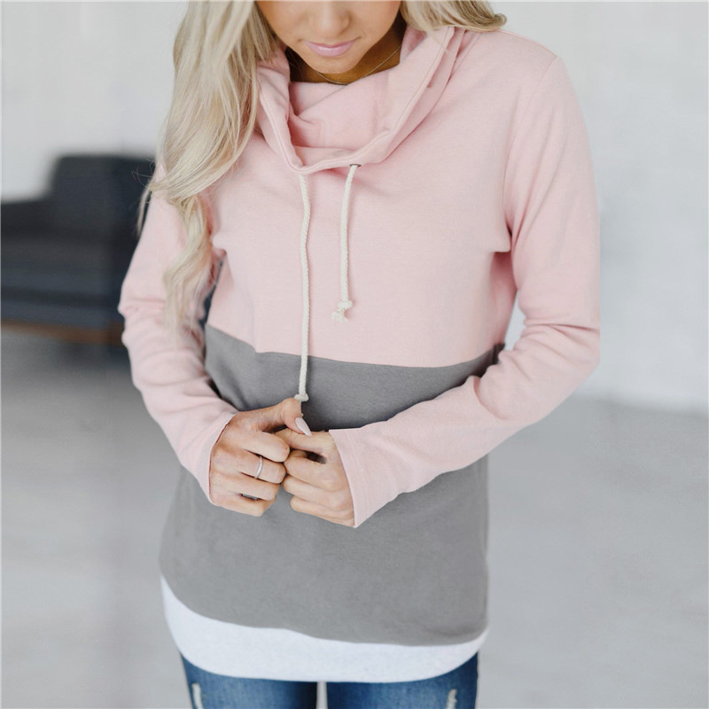 ladies sweatshirts 2018 coloured sleeves hoodies crop top hoodie new female autumn sweatshirt winter casual pullovers women