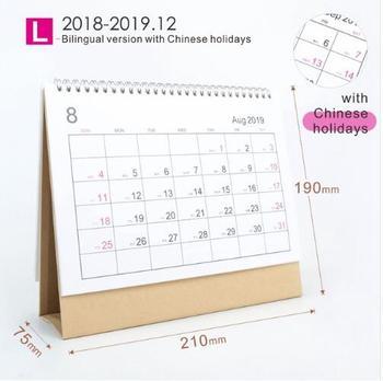 2019 Tisch Kalender 2019 Jahr Einfache Schreibtisch Stehenden Papier