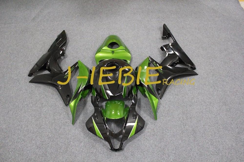 Black green Injection Fairing Body Work Frame Kit for HONDA CBR600RR CBR 600 CBR600 RR F5 2007 2008