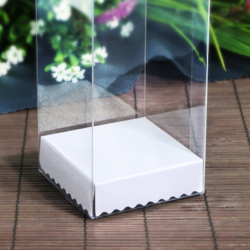 10PCS 1lot2019 New arrival Clear PVC Box 9 9 H cm Rectangular Wedding Souvenir box Cute Small Toys Doll display Packaging box in Gift Bags Wrapping Supplies from Home Garden
