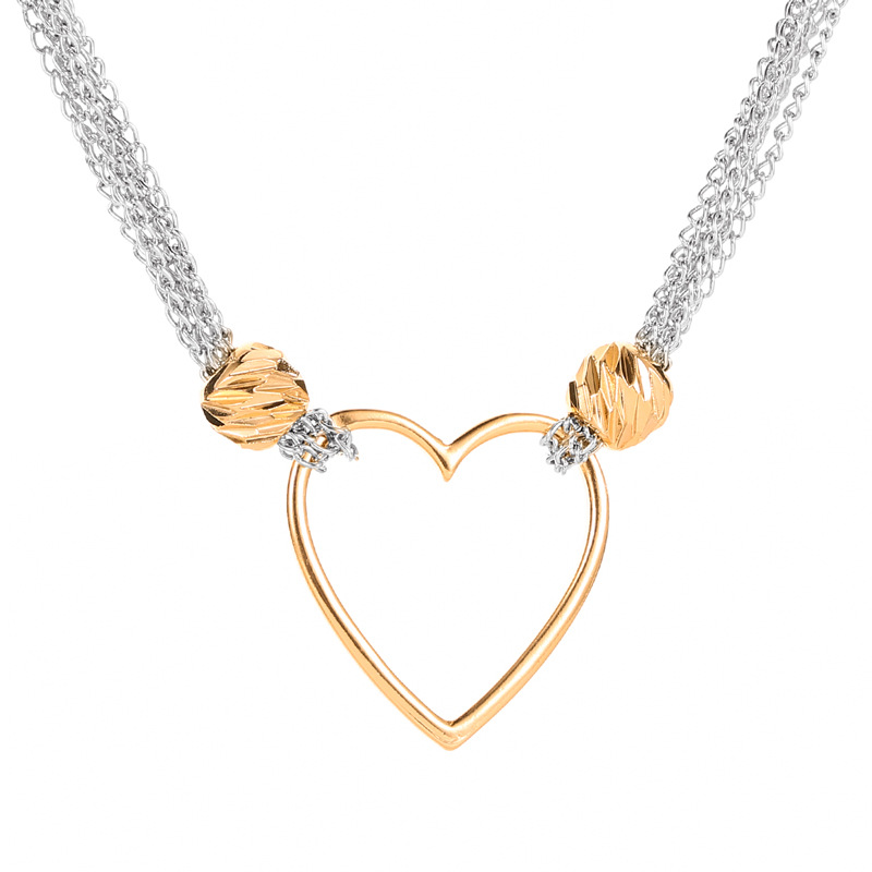 Womens Golden Love Heart Charm Bracelet Slim Bangle Ladies Jewellery Gift Ideas