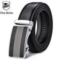 FIRE KIRIN Mens Belts Luxury Genuine Leather Belt Fashion Brand Mens Dress Belts Black Ceinture Homme Luxe Automatic Buckle B40