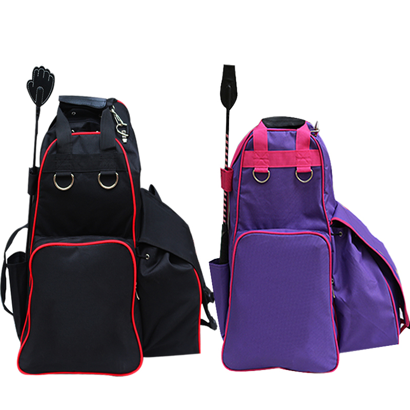 Equestrian Backpack Waterproof Horse Riding Outfit Helmet Boots Storage Bags Harness Supplies Professional Rider Equipment