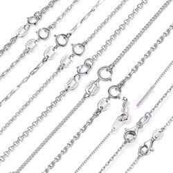 Hakiki 925 Ayar Gümüş Zincir Kolye Kadın Moda Uzun Kolye 100% Gümüş Kolye Düğün Bildirimi Kolye Takı