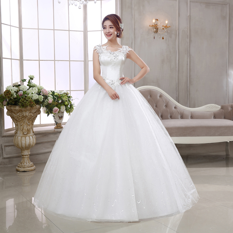 2017 Latest Wedding Dresses Gorgeous Ball Gown Romantic Princess ...