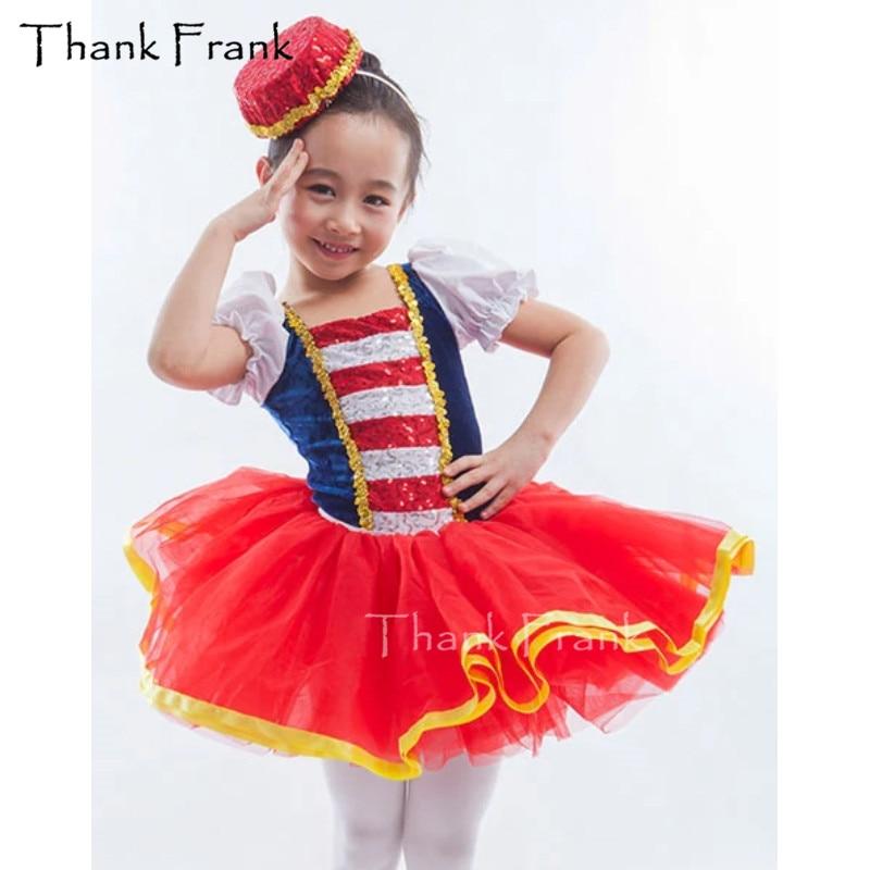Ballet Dress For Girls Puff Sleeve Sequin Tutu Ballet Girl Leotard Dresses Ballerina Dance Costumes Kids