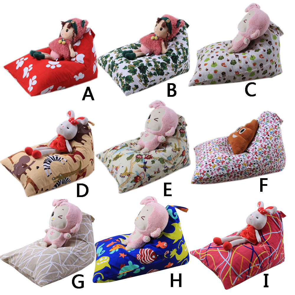 Origineel New Kids Knuffel Pluche Speelgoed Opslag Bean Bag Soft Pouch Streep Stof Stoel Opbergtas For A Thuis