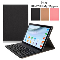 100% brand new and high quality Ergonomic design Media Pad M5 8.4 Smart Bluetooth Keyboard + Flip Stand Case Cover For Huawei