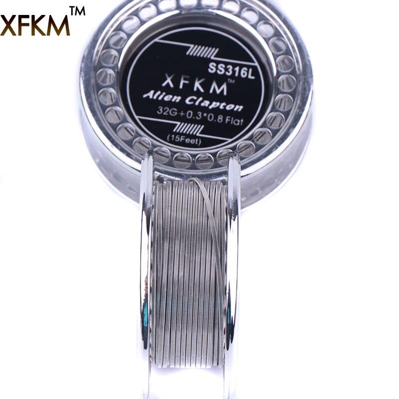 5m/roll XFKM SS316L Alien Clapton Wire Heating Wire For RDA RBA Rebuildable DIY Atomizer Coil E-Cigarette Vaporizer Coils