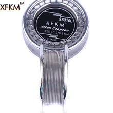 5 м/roll xfkm ss316l чужой Клэптон Провода нагрева Провода для RDA РБА ввиду diy распылитель катушки e- сигареты испаритель катушки
