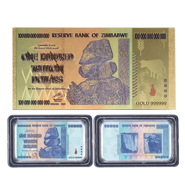 Wr Zimbabwe One Hundred Trillion Dollars Currency Challenge Gold