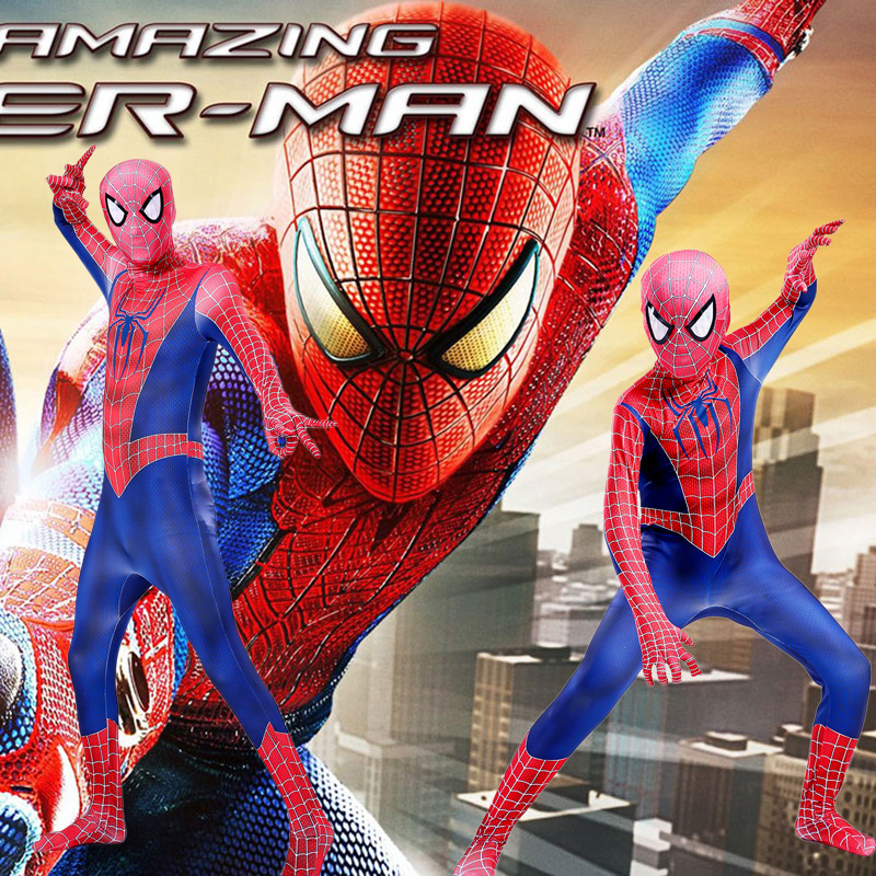 New 3D printing Spider-Man costume Adult Children Remy Tony Spiderman Cosplay One-Piece Tights Roleplay Clothing