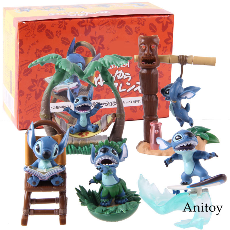 Image 5 - Cartoon Figure Lilo and Stitch Action Figures PVC Collectible Model Toys Lilo Stitch Christmas Birthday Gifts for Kids 5pcs/setAction & Toy Figures   -