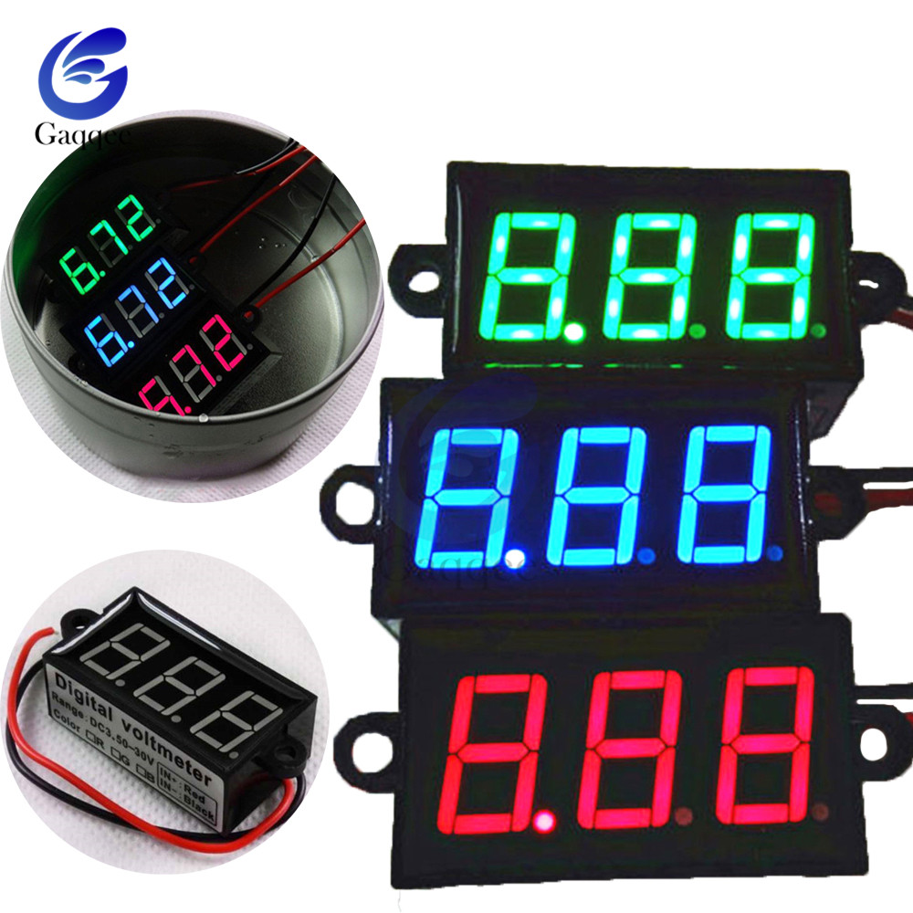 "0.56"" 3 digits red LED digital voltage timing delay relay control panel meter"