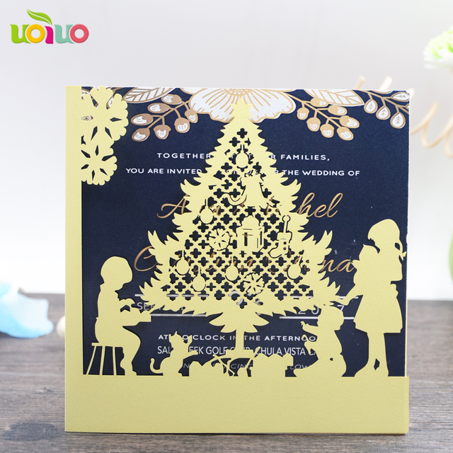 Nice laser cut 3d christmas greeting cards gold designs festival nice laser cut 3d christmas greeting cards gold designs festival invitation cards for even and party m4hsunfo