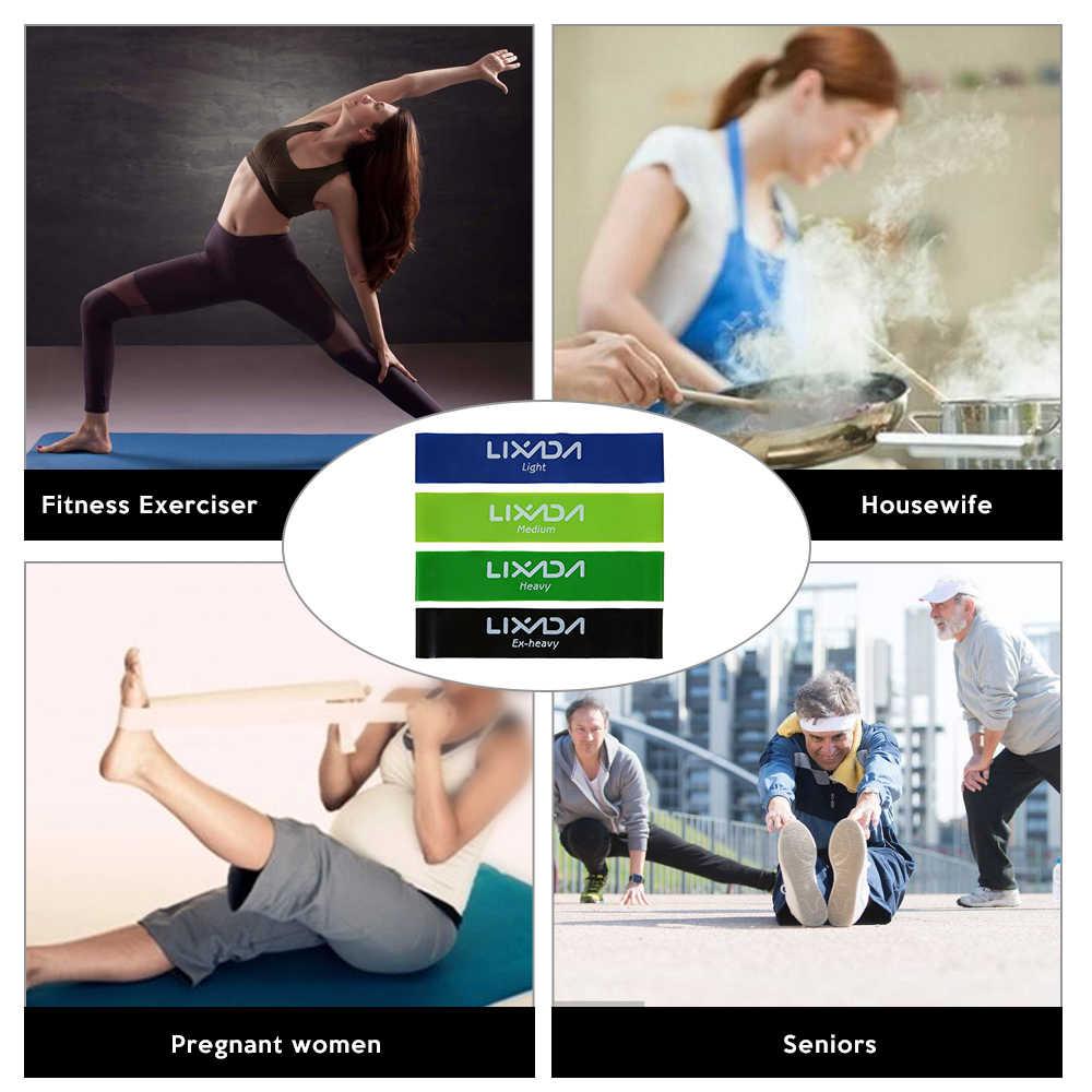 Lixada taśmy do ćwiczeń 4 sztuk sport ćwiczenia pętle do ćwiczeń oporowych zestaw z elastyczną taśmą zestaw dla nóg trening siłowy