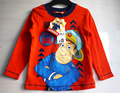 New arrival 2017 spring and autumn fireman sam Kids boys t shirts fashion long sleeve cotton top children's t-shirt fireman