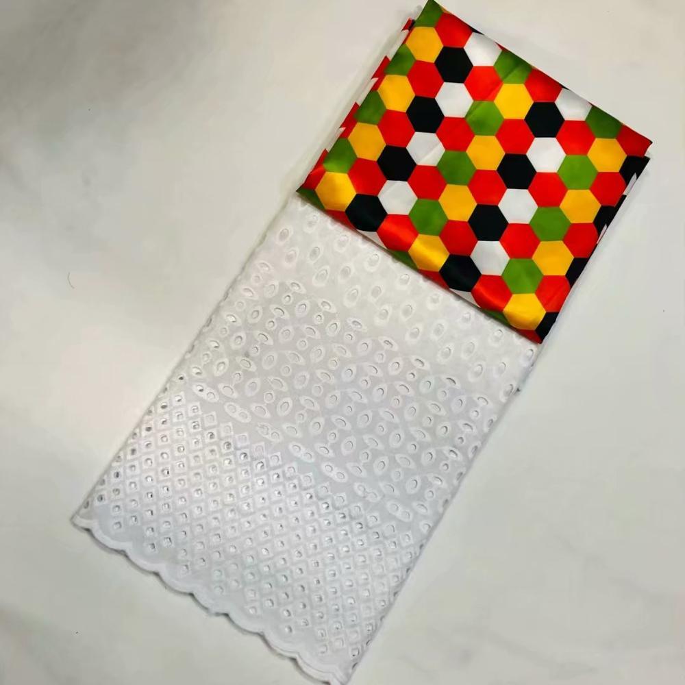 Voile suisse dentelle en suisse haute qualité 2.5 + 3 soie et satin tissu plus récent Dubai dentelle africaine français tissu LSS01 - 3