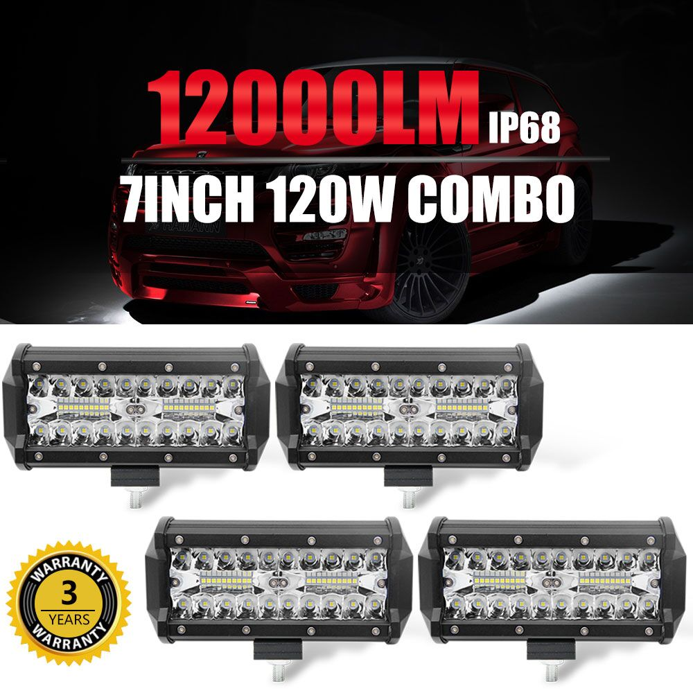 Со светом 120 Вт 7 дюймов Led Подсветка 12 В 24 В светодиодные панели Off Road вождения авто дневного света для Toyota Лада добыча фермы Jeep 4X4
