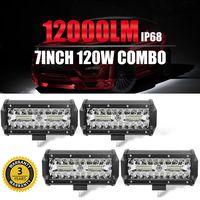 CO LIGHT 120W 7 Inch Led Work Lights 12V 24V Led Bar Off Road Auto Driving Running Light for Toyota Lada Mining Farm Jeep 4X4