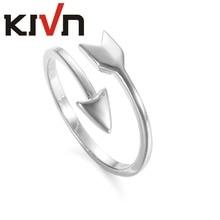 KIVN Womens Fashion Jewelry Plain Open Adjustable Bridal Wedding Cupid Arrow Rings Girls Mothers Day Birthday Christmas Gifts