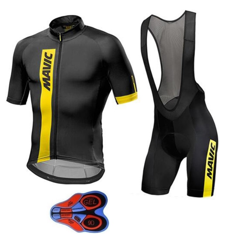 2018 NEW Mavic Summer Short Sleeve Cycling Wear Breathable Bicycle Clothing Quick Dry Cycling Clothes Bike Riding Jersey Gel Pad 2017 summer breathable mountian pro woman cycling jersey quick dry short sleeve girl cycling clothing mtb bike cycle clothes