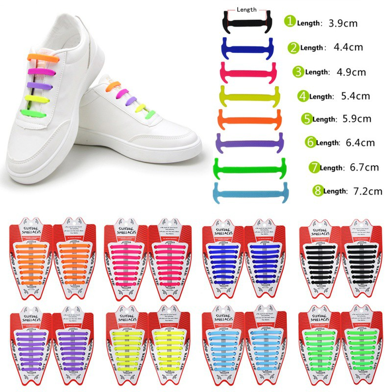 Unisex Adult Universal Athletic Running No Tie Shoe Lace Elastic Silicone Shoelaces Waterproof Elastic Rubber Tie-free Shoes