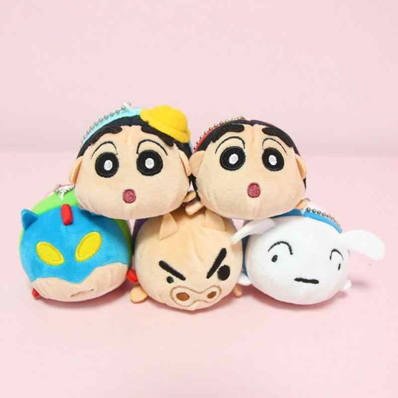 1 Pc cute Cartoon kredka Shin Chan pluszowe zabawki wypchane pluszowe lalki brelok etui torebka torebka wisiorek prezent pluszowe zabawki