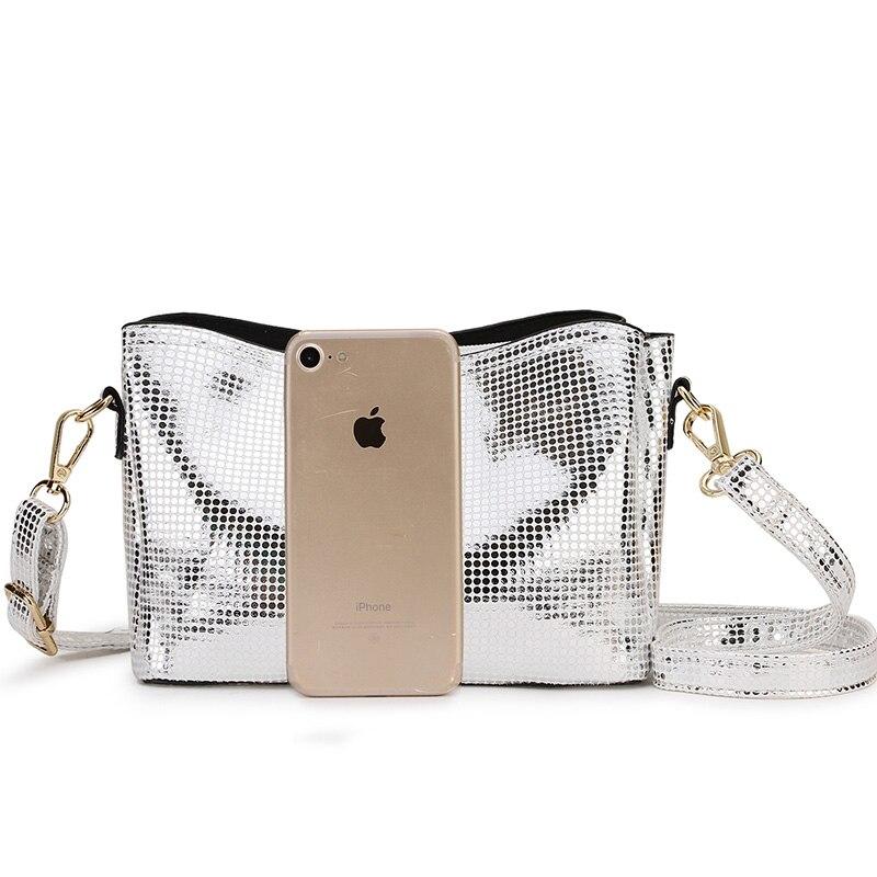 SMILE SUNSHINE Silver Small Crossbody Bag For Women Snake Print Leather Shoulder Bag Female Chain Messenger Bag Ladies Hand Bags