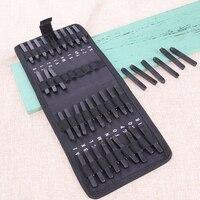 36pcs Set Carbon Steel Punch Set Alphabet Letter Number Stamp Set Metal Leather Craft Tool Leather