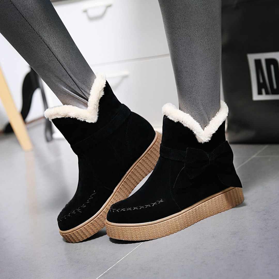 NEMAONE 2019 YENI Kar botları Kış marka sıcak kaymaz kadın çizmeler ayakkabı rahat pamuk kış sonbahar çizmeler kadın