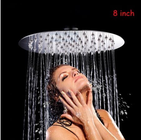 High Quality 304 Stainless Steel Round 8 Inch Shower Head Ultra-thin Rainfall Shower Head Bathroom Shower Head
