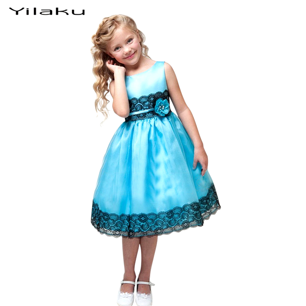 Princess Girls Party Dress Summer Girl Clothes Sleeveless Silk Girl Lace Dresses Flower Girls Princess vestido infantil Dress girl dress 2 7y baby girl clothes summer cotton flower tutu princess kids dresses for girls vestido infantil kid clothes