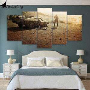 Картина на холсте, 5 панелей, HD печать, mad max fury, дорожная живопись на холсте, украшение для комнаты, печать, постер, Картина на холсте, Бесплатн...