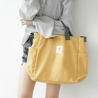 New Canvas Shoulder Bags Environmental Shopping Bag Tote Package Crossbody Bags Purses Casual Handbag For Women