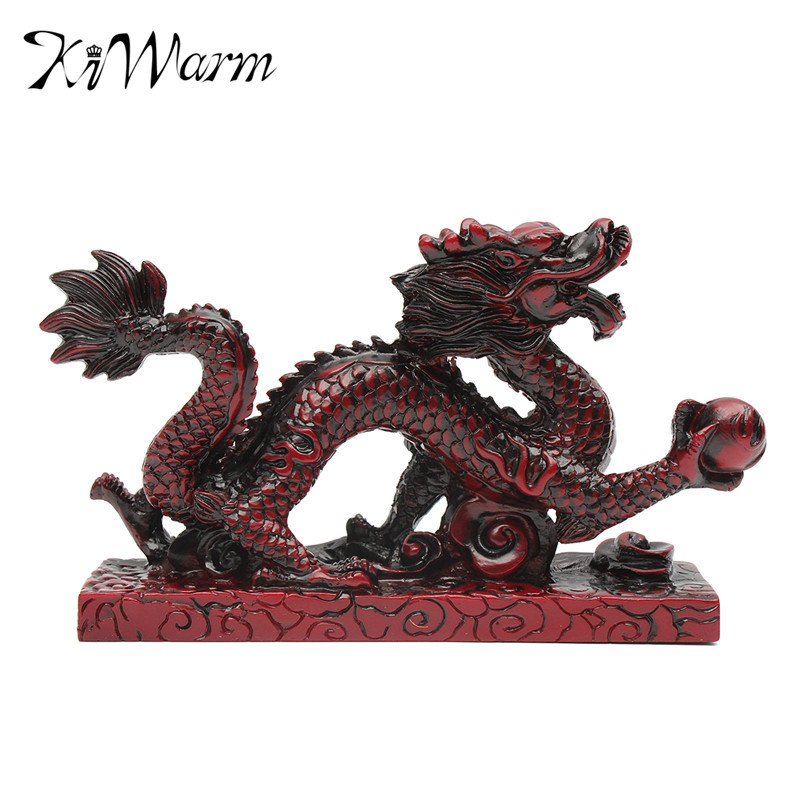 KiWarm New Arrival Vintage Resin RED Chinese Feng Shui Dragon Figurine Statue for Luck and Success 6 Loong 14*4*9CMKiWarm New Arrival Vintage Resin RED Chinese Feng Shui Dragon Figurine Statue for Luck and Success 6 Loong 14*4*9CM