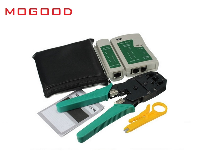 MoGood Network Tool Cheaper, 3 in 1 Crimper Tool ,Cable Test, Wire Stripping Knife, 50 pieces RJ-45 Connectors, original japan network cable tool rj 45 rj 11 8p 6p crimper for cctv ip camera and telephone
