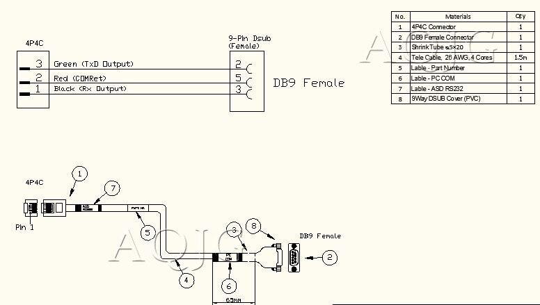 customized rs232 db9 to rj11 rs232 to rj12 rj9 rj25 rj45