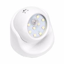 9 LEDs Motion Sensor PIR Night Light 360 Degree Rotation Battery Operated Corridor Wall Night Lamp For Closet Garages Hallway