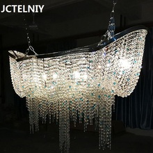 Buy crystal chandelier chain and get free shipping on aliexpress jctelniy deluxe crystal chandelier chain living room led lamp home decoration villa audiocablefo
