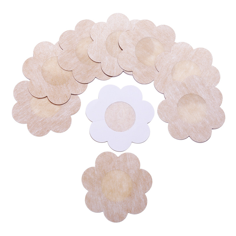 5Pairs/lot Breast Petals Reusable Invisible Self Adhesive Sticker Cover Bra For Women Pasties Heart Flower Intimates Accessories