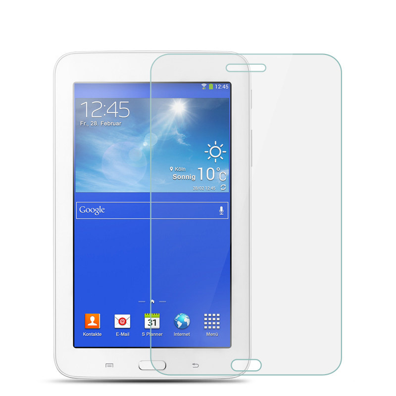 9H Tempered Glass For Samsung Galaxy Tab 3 lite 7.0 T110 T111 T113 T116 Tablet Screen Protector Protective Film Glass Guard fashion flip pu leather case cover for samsung galaxy tab 3 lite 7 0 t110 t111 t113 t116 tablet cases with card slot