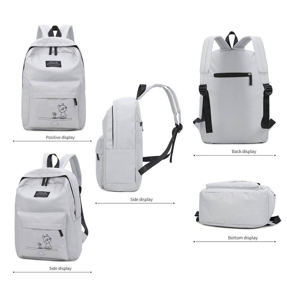 9c913bb71d99 Купить 4 шт. компл. школьный рюкзак книга сумки для ученический рюкзак для  женщин Повседневное нейлон ноутбука модные студенческие рюкзаки Продажа  Дешево.