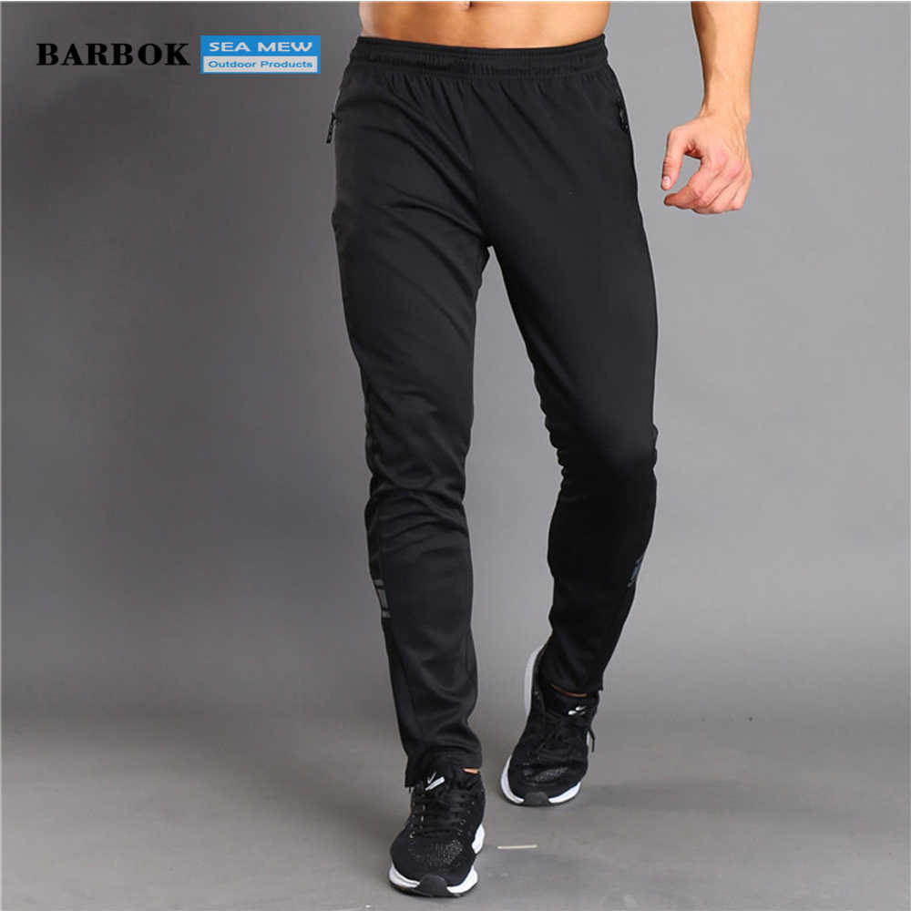 BARBOK Sport Running Broek mannen Gestreepte Ademend Fitness Training Jogging Joggingbroek Zwart Basketbal Tennis Broek