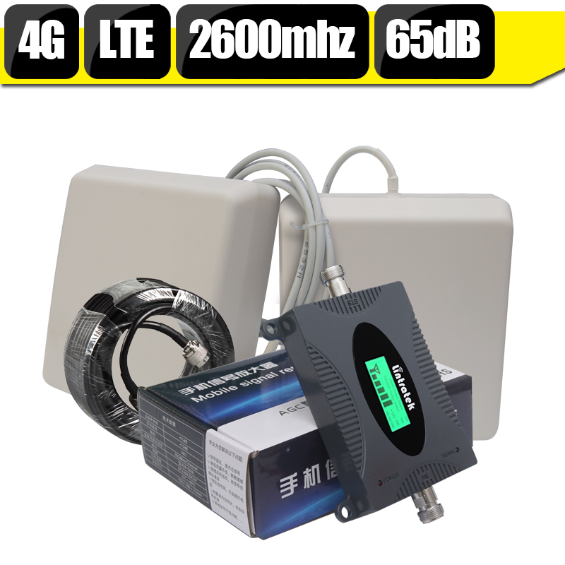 lcd display 4g lte 2600 mhz mobile signal repeater fast 4g internet 65db cell phone booster. Black Bedroom Furniture Sets. Home Design Ideas