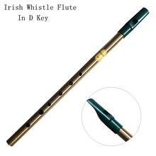 Латунный ирландский свисток флейта C/D ключ Ирландия Feadog флейта Оловянная пеннисвистка Металл Dizi Feadan 6 отверстий музыкальный инструмент