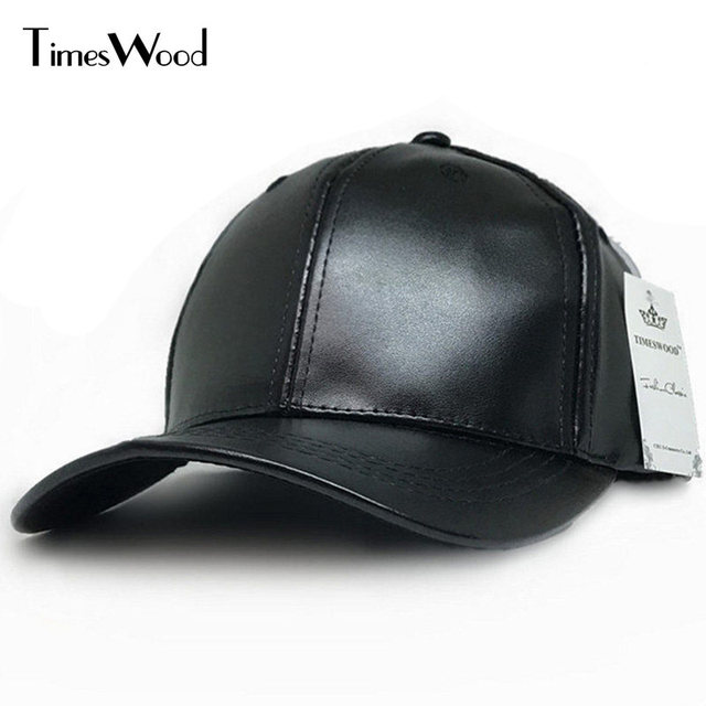 7c8f7784d57 Fashion New Faux Leather Baseball Cap Plain Black Bone 6 Panel Hats Men  Women Spring Fall Solid Blank Adjust Hat Wholesale
