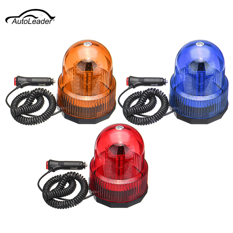 1PCS 12V LED Car Bus Warning Flash Beacon Rotate Strobe Emergency LED Light Yellow, Red, Blue стоимость