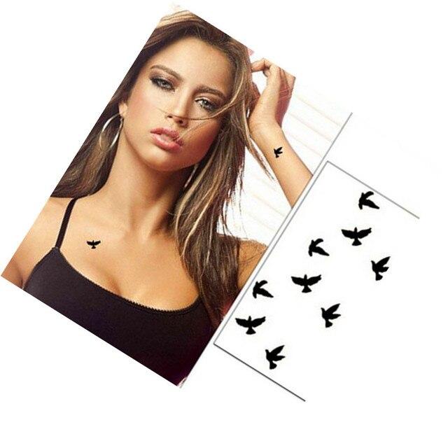 Tatto Birds Design Waterproof Temporary Tattoo Sticker 10cm Wrist Flash Tattoo Fake For Body Art Women Flesh Tatoos